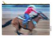 Cowgirl Rides Fast For Best Time Carry-all Pouch