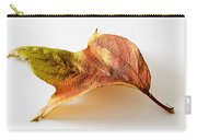 Cranberry Tree Leaf Isolated On White Carry-all Pouch