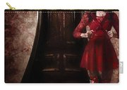 Creepy Woman With Bloody Scissors In Haunted House Carry-all Pouch