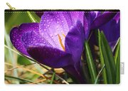 Crocus And Drops Carry-all Pouch