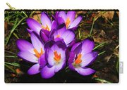 Crocus Flower Carry-all Pouch