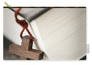 Cross And Bible Carry-all Pouch