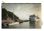Cruise Ship At Port, Kingstown, Saint Carry-all Pouch