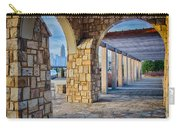Cultured Stone Terrace Trellis Details Near Park In A City  Carry-all Pouch