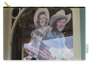 Dale Evans Roy Rogers Cardboard Cut-outs Flag Reflection Helldorado Days Tombstone 2004 Carry-all Pouch