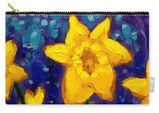 Dancing Daffodils Cropped  Carry-all Pouch