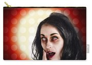Dark Portrait Of A Zombie Girl In Shock Horror Carry-all Pouch