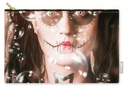 Day Of The Dead Girl Blowing Party Bubbles Carry-all Pouch