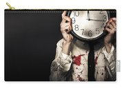 Dead Business Person Holding End Of Time Clock Carry-all Pouch