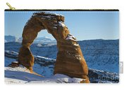 Delicate Arch With Snow Arches National Park Utah Carry-all Pouch