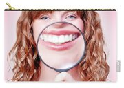 Dentist Showing White Teeth In A Dental Checkup Carry-all Pouch