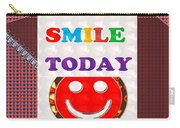 Did You Smile Today Background Designs  And Color Tones N Color Shades Available For Download Rights Carry-all Pouch