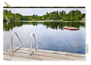 Dock On Calm Lake In Cottage Country Carry-all Pouch