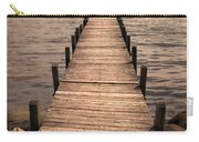 Dock On Mountain Lake Carry-all Pouch