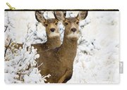 Doe Mule Deer In Snow Carry-all Pouch