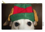Dog Wearing Elf Ears, Christmas Portrait Carry-all Pouch