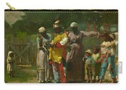 Dressing For The Carnival Carry-all Pouch by Winslow Homer