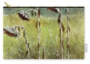 Dried Up Sunflower Patch Carry-all Pouch