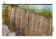 Dune Fence On Beach  Carry-all Pouch