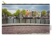 Dutch Houses By The Amstel River In Amsterdam Carry-all Pouch
