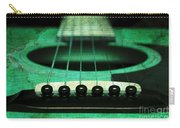 Edgy Abstract Eclectic Guitar 15 Carry-all Pouch by Andee Design