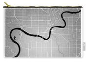 Edmonton Street Map - Edmonton Canada Road Map Art On Colored Ba Carry-all Pouch