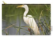 Egret In The Cattails Carry-all Pouch