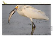 Egret With Fish Carry-all Pouch