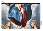 El Greco's Madonna And Child With Saint Martina And Saint Agnes Carry-all Pouch