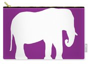 Elephant In Purple And White Carry-all Pouch