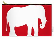 Elephant In Red And White Carry-all Pouch