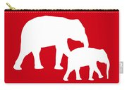 Elephants In Red And White Carry-all Pouch