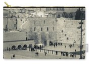 Elevated View Of The Western Wall Carry-all Pouch