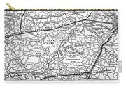 England Railroad Map Carry-all Pouch