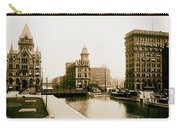 Erie Canal On Salina Street In Syracuse New York - Circa 1904 Carry-all Pouch