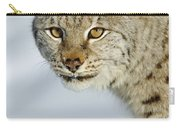 Eurasian Lynx In Snow Carry-all Pouch