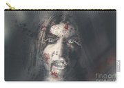 Evil Dead Vampire Woman Looking In Bloody Window Carry-all Pouch