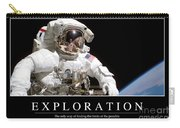 Exploration Inspirational Quote Carry-all Pouch