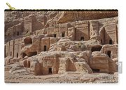 facade street in Nabataean ancient town Petra Carry-all Pouch by Juergen Ritterbach