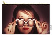 Face Of Cool Fashion Woman In Retro Summer Love Carry-all Pouch