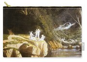 Fairies By A Rocky Stream Carry-all Pouch