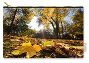 Fall Autumn Park. Falling Leaves Carry-all Pouch