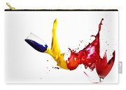 Falling Glasses Of Paint Carry-all Pouch