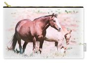 Family Of Horses Carry-all Pouch