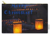 Farolitos Or Luminaria On Wall-2 Carry-all Pouch