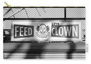 Feed The Clown In Black And White Carry-all Pouch