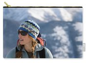Female Backcountry Skier Skinning Carry-all Pouch