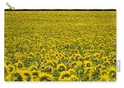 Field Of Blooming Yellow Sunflowers To Horizon Carry-all Pouch