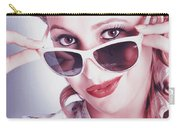 Fifties Glamor Girl Wearing Retro Pin-up Fashion Carry-all Pouch