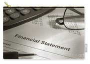 Financial Statement On My Desk Carry-all Pouch